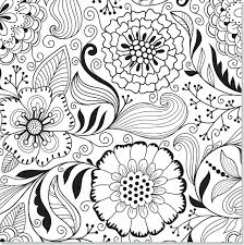 Printable Coloring Pages Adults Spring Flowers Butterfly And Flower For Free Colouring Full Size