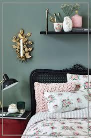 elegáns skandi look schlafzimmer deko moderne muster