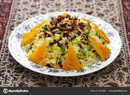 cuisine avec du riz zereshk polo avec riz épine vinette tahdig safran avec riz