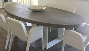 table à manger contemporaine en chêne ovale haute cabuy didier