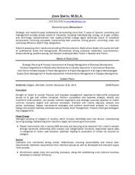 A Resume Template For An Executive Level Manager You Can Download It And Make