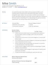 Senior Business Analyst Resume Lovely Examples Design Templates
