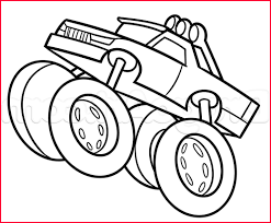 100 Monster Truck Drawing Easy S 215384 Cartoon S Step 8 A