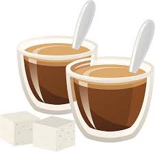 Espresso Shots Vector Art Illustration