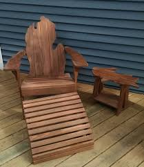 michigan adirondack chair with upper peninsula side table and
