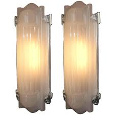 deco wall sconces lighting large home theater at