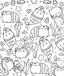 Pusheen Coloring Pages To Print For In Conjunction