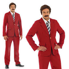 Image Is Loading Mens Ron Burgandy Fancy Dress Costume News Anchor