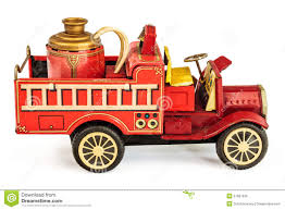 100 Old Fire Trucks Vintage Tin Truck Toy Isolated On White Stock Photo Image Of