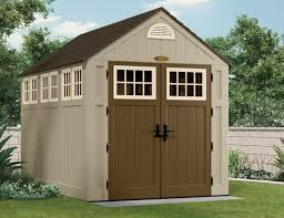 Suncast Plastic Garage Storage Cabinets by 497 Cu Ft Alpine 7 X 10 Storage Shed Suncast Corporation