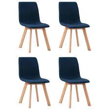 esszimmerstühle 4 stk blau stoff esszimmerstuhl real de
