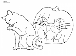 Great Halloween Cat Coloring Pages Printables With Printable And