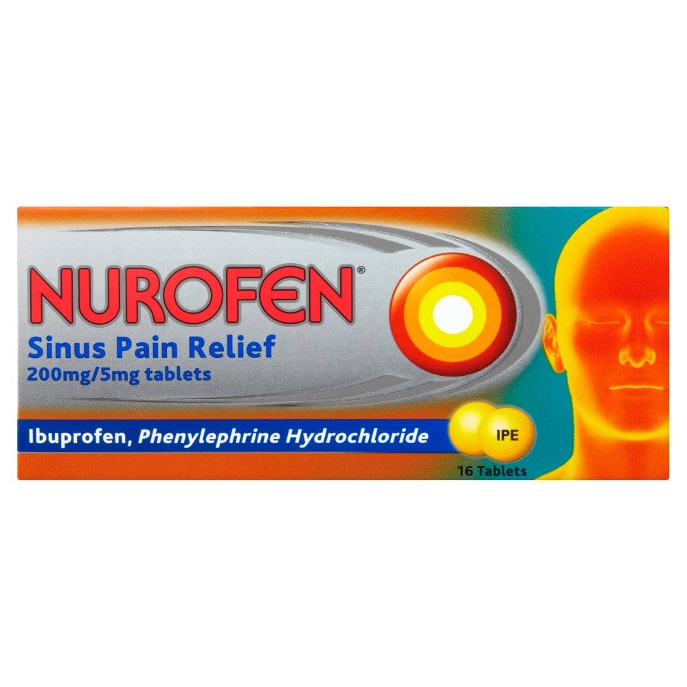 Nurofen Sinus Pain Relief - 200mg and 5mg, 16ct