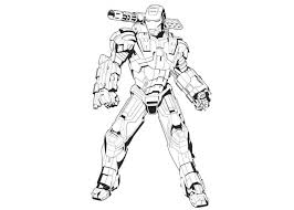 Iron Man And Gun Coloring Pages Free