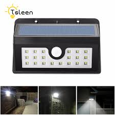 2pcs solar light black 20 led solar power pir motion sensor wall