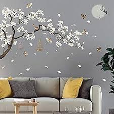wandtattoo kirschblüte wandtattoo baum vögel wandtattoo bäume weiße blüten wanddeko kinderzimmer wandtattoos schlafzimmer wandaufkleber