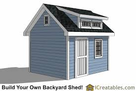 Saltbox Shed Plans 10x12 by 10x12 Shed Plans With Dormer Icreatables Com