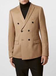 limited edition camel hair double breasted blazer topman