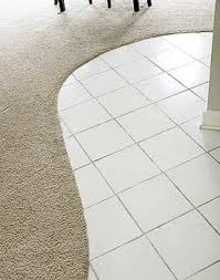 curved transition from carpet to tile without moldings