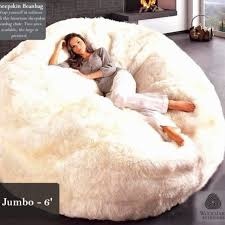 Celeb Tx Sheepskin Bean Bag Bed
