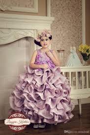 new design 2017 little girls pageant dresses princess sheer