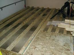 Plywood Subfloor Over Concrete Wood Flooring Slab Gurus Floor Laying Wooden On