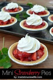 These Mini Strawberry Pies are an dessert for picnics Each one is loaded with fresh