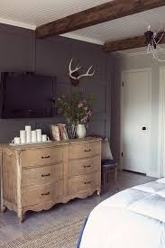Stunning Master Bedroom Focal Wall Love The Dark Gray Color Beams And