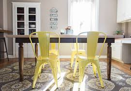 Dining Table With Yellow Chairs