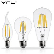 real watt antique led edison bulb e27 2w 4w 6w 8w vintage led bulb