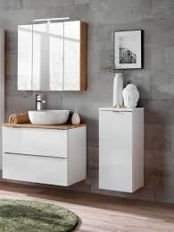badmöbel set 4 tlg badezimmerset perugia weiss ohne waschbecken 60cm