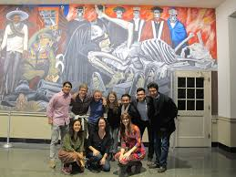 spanish seminar visits famous orozco mural at dartmouth college