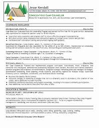 Licensed Professional Counselor Resume Best Of Camp Experience Career Samples