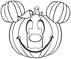 Joyous Halloween Coloring Pages Disney Mickey Mouse Free