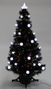 White Fibre Optic Christmas Tree 7ft by 17 Black Fibre Optic Christmas Tree 6ft Christmas Trees 3 Ft