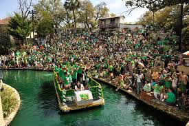 Parade Float Decorations In San Antonio by Green Decked Crowds Turn Out To Mark St Patrick U0027s Day San