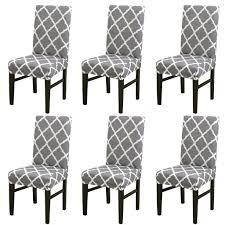 stuhlhussen 6 stück elastische moderne beschützer stuhlhussen stuhl abdeckungen für haus esszimmer moderne hochzeit bouquet hotel restaurant