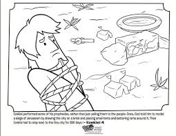 Kids Coloring Page From Whats In The Bible Featuring Story Of Ezekiel And Brick Volume God Speaks