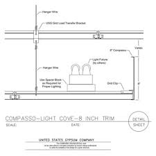 09 54 00131311 Specialty Ceilings Compasso Light Cove 8 Inch