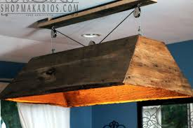 Rustic Style Interior Lighting Decoration With Hanging Pool Table Light Suitable Over A Kitchen