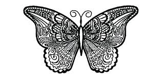 Butterfly Coloring Page Printable Detailed