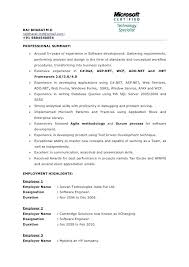 Net Developer Resume For 1 Year Experience Pdf Sample Example Download