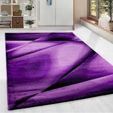 moderner designer wohnzimmer teppich miami 6590 lila