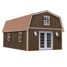 Tuff Shed Cabin Floor Plans by Best Barns Richmond 16 Ft X 32 Ft Wood Storage Building