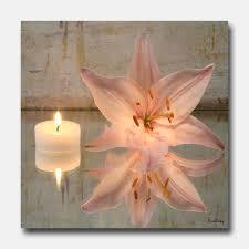 image detail for tableau deco zen bougie orchidée
