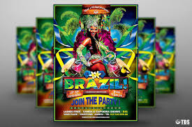 Brazilian Show Flyer Template PSD Design For Photoshop