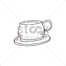 Cup With Saucer Vector Graphic