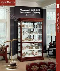 miller large 50 cherry curio display cabinet 680235 townsend