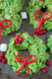 no bake wreath cookies made with corn flakes and