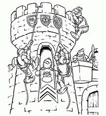 Lego Knights Climb Watching Tower Coloring Pages
